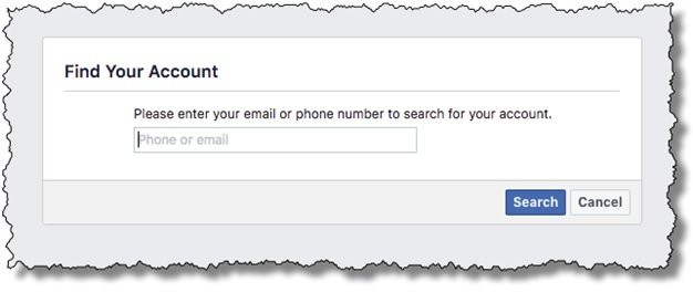 FB - Find Your Account